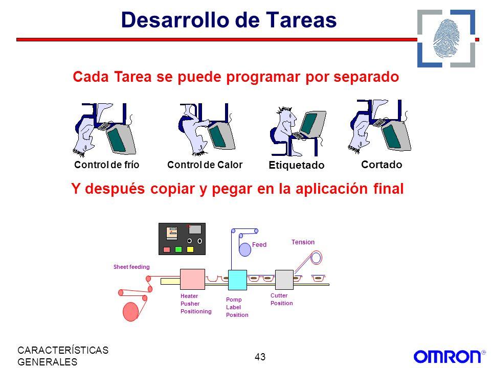 Desarrollo de Tareas Cada Tarea se puede programar por separado