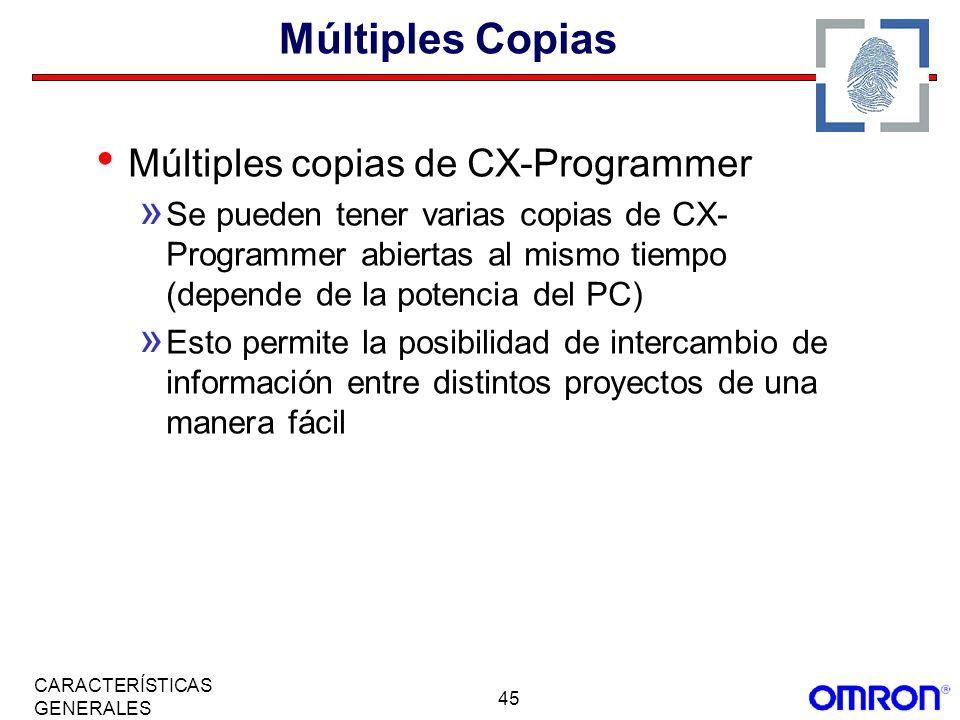Múltiples Copias Múltiples copias de CX-Programmer