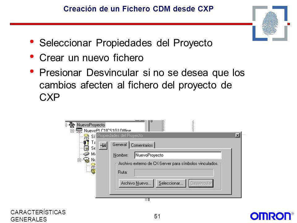 Creación de un Fichero CDM desde CXP