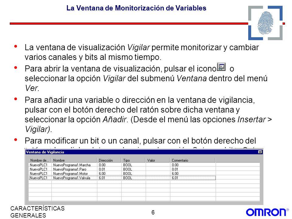 La Ventana de Monitorización de Variables