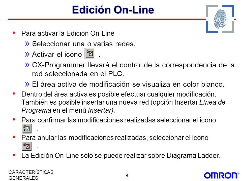Edición On-Line Seleccionar una o varias redes. Activar el icono .