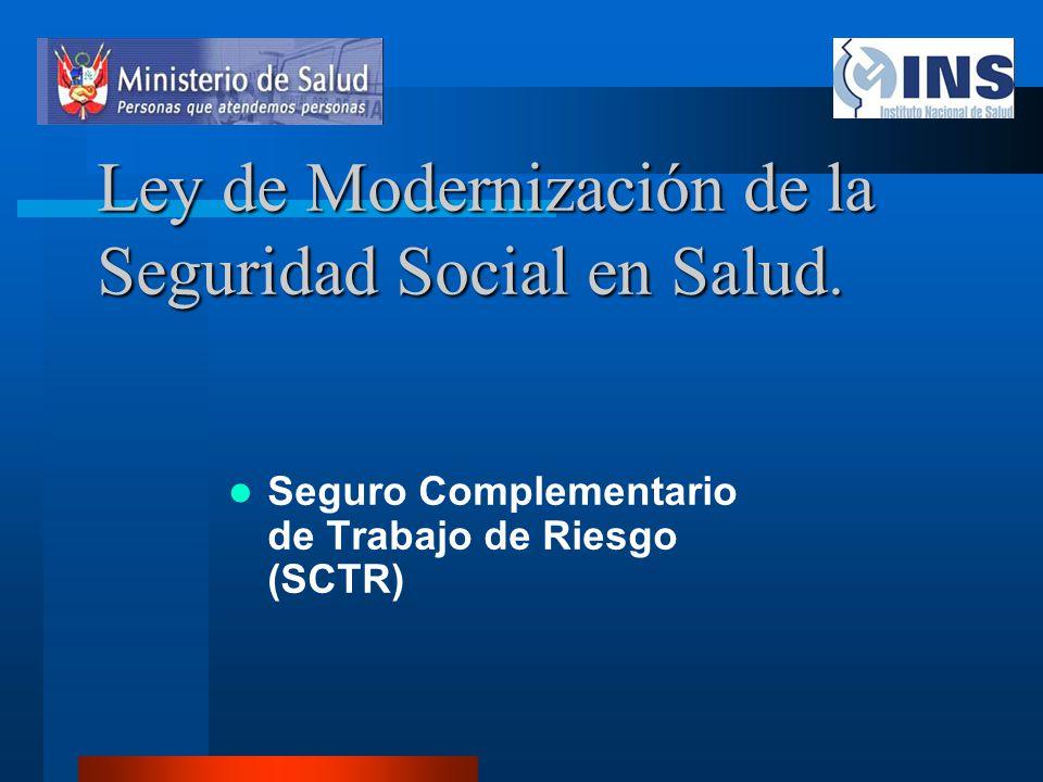 Ley de Modernización de la Seguridad Social en Salud.