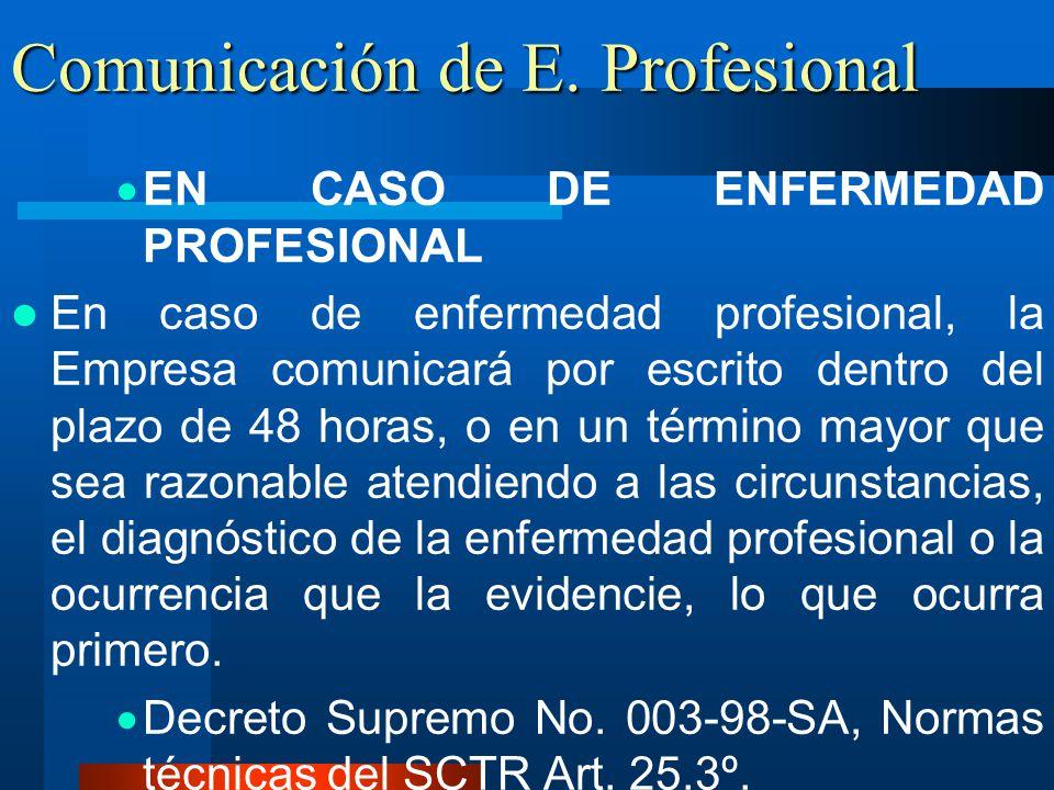 Comunicación de E. Profesional