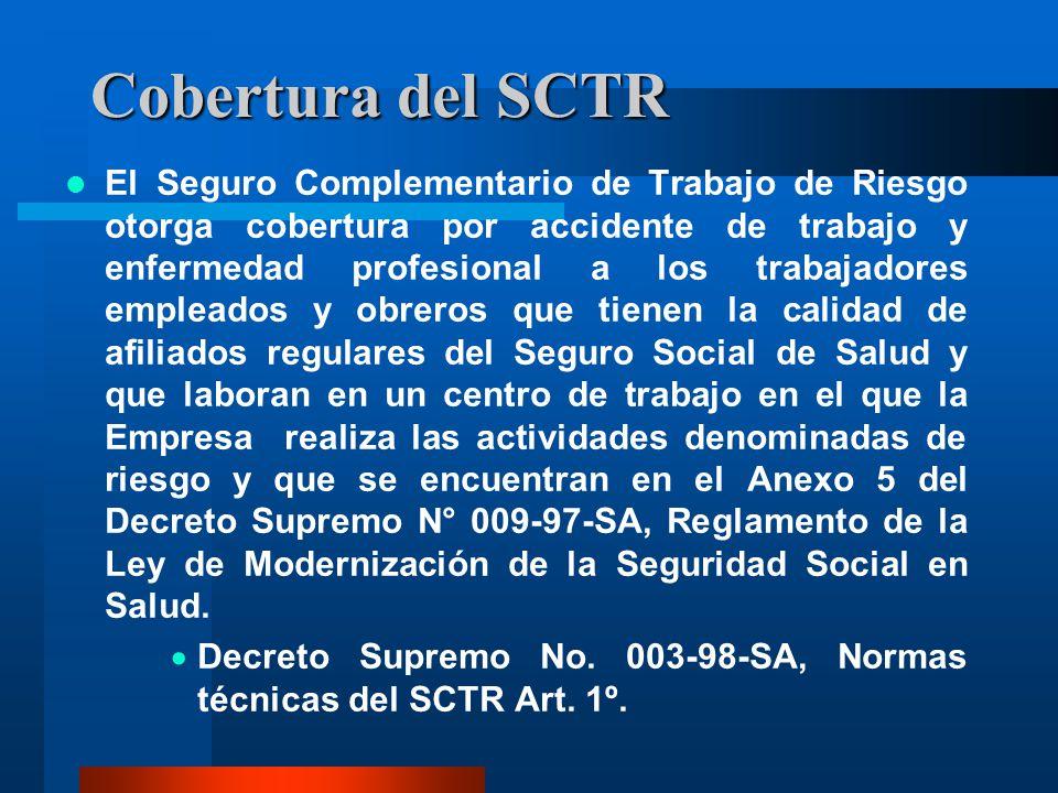 Cobertura del SCTR