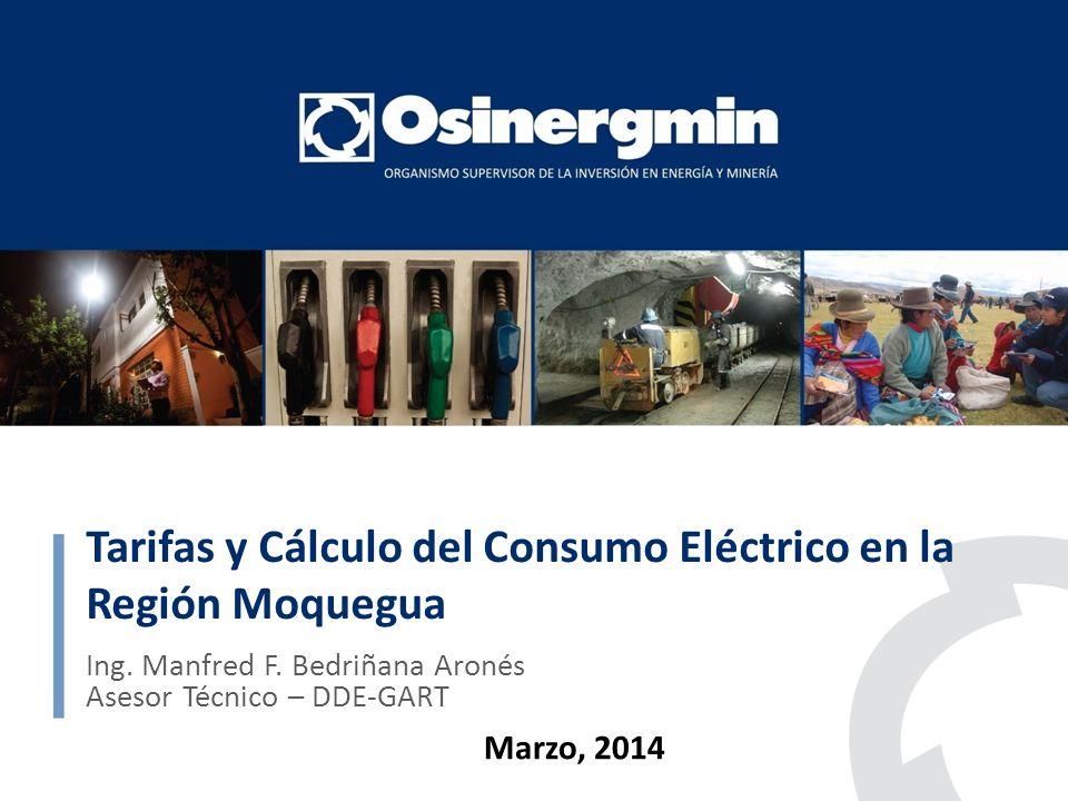 Tarifas y Cálculo del Consumo Eléctrico en la Región Moquegua