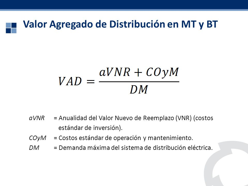 Valor Agregado de Distribución en MT y BT