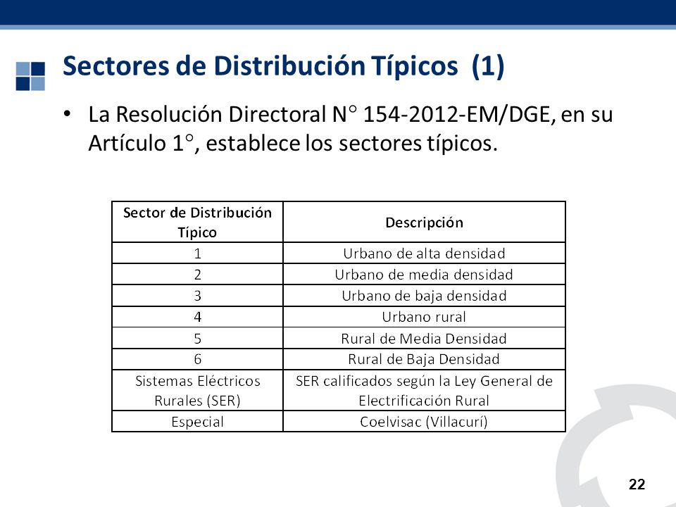 Sectores de Distribución Típicos (1)