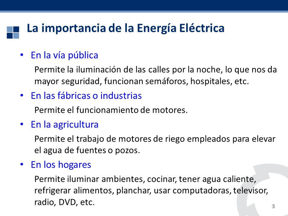 La importancia de la Energía Eléctrica
