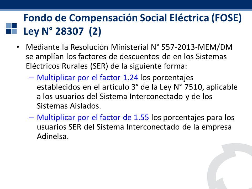 Fondo de Compensación Social Eléctrica (FOSE) Ley N° 28307 (2)