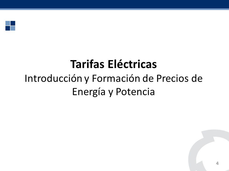 Introducción y Formación de Precios de Energía y Potencia