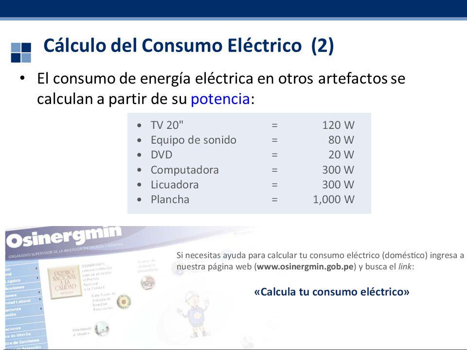 Cálculo del Consumo Eléctrico (2)