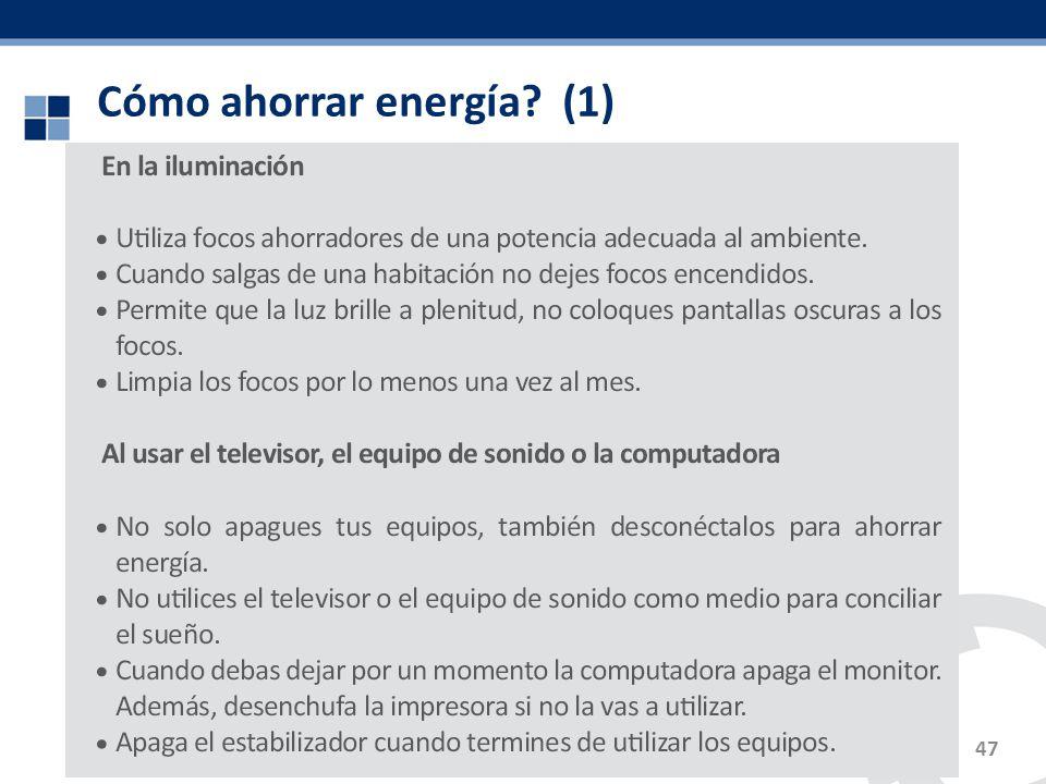 Cómo ahorrar energía (1)