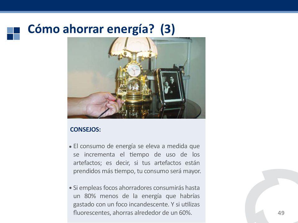 Cómo ahorrar energía (3)