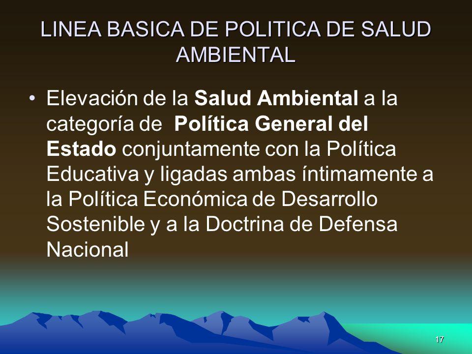 LINEA BASICA DE POLITICA DE SALUD AMBIENTAL
