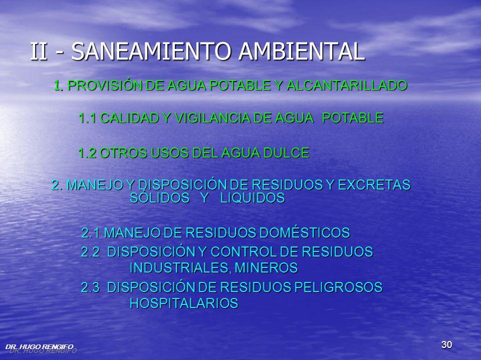 II - SANEAMIENTO AMBIENTAL