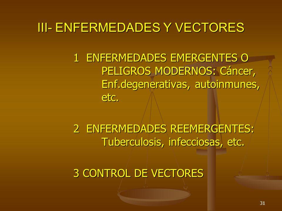 III- ENFERMEDADES Y VECTORES