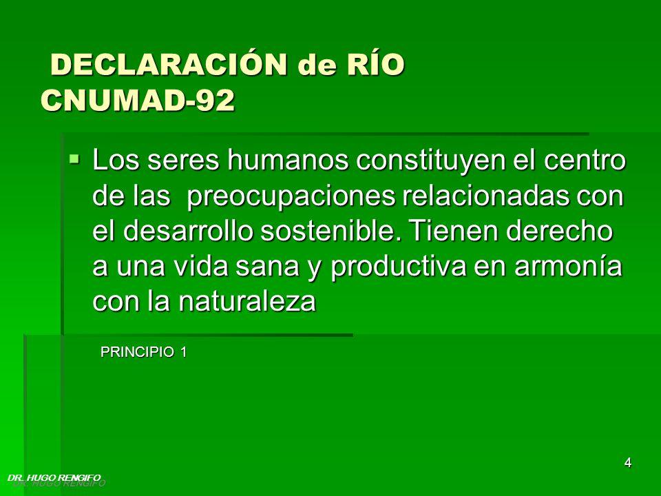 DECLARACIÓN de RÍO CNUMAD-92