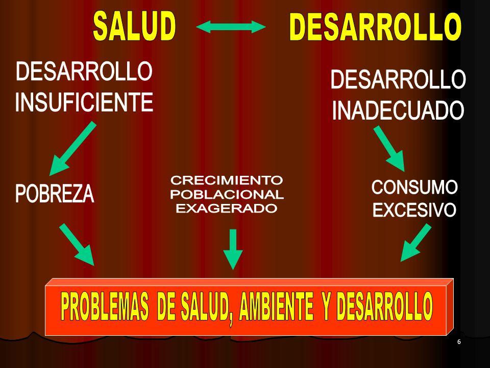 PROBLEMAS DE SALUD, AMBIENTE Y DESARROLLO