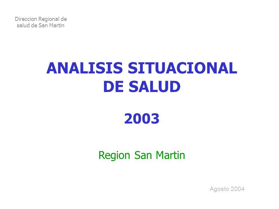 ANALISIS SITUACIONAL DE SALUD