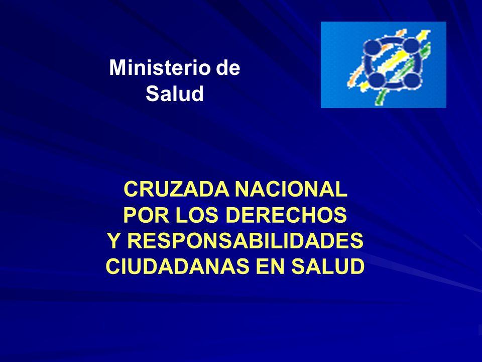 Ministerio de Salud CRUZADA NACIONAL POR LOS DERECHOS Y RESPONSABILIDADES CIUDADANAS EN SALUD