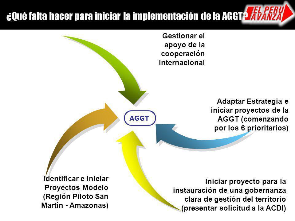 ¿Qué falta hacer para iniciar la implementación de la AGGT
