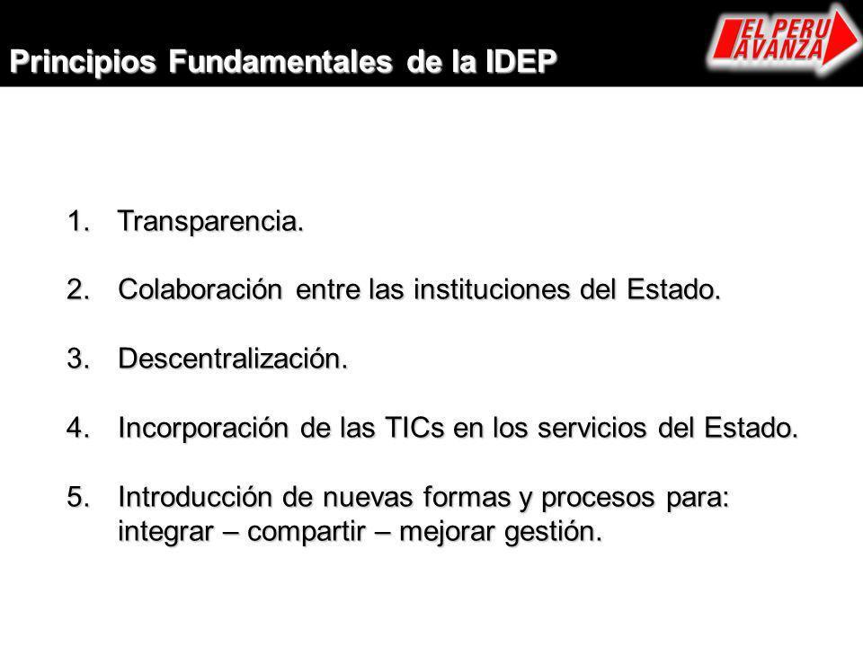 Principios Fundamentales de la IDEP