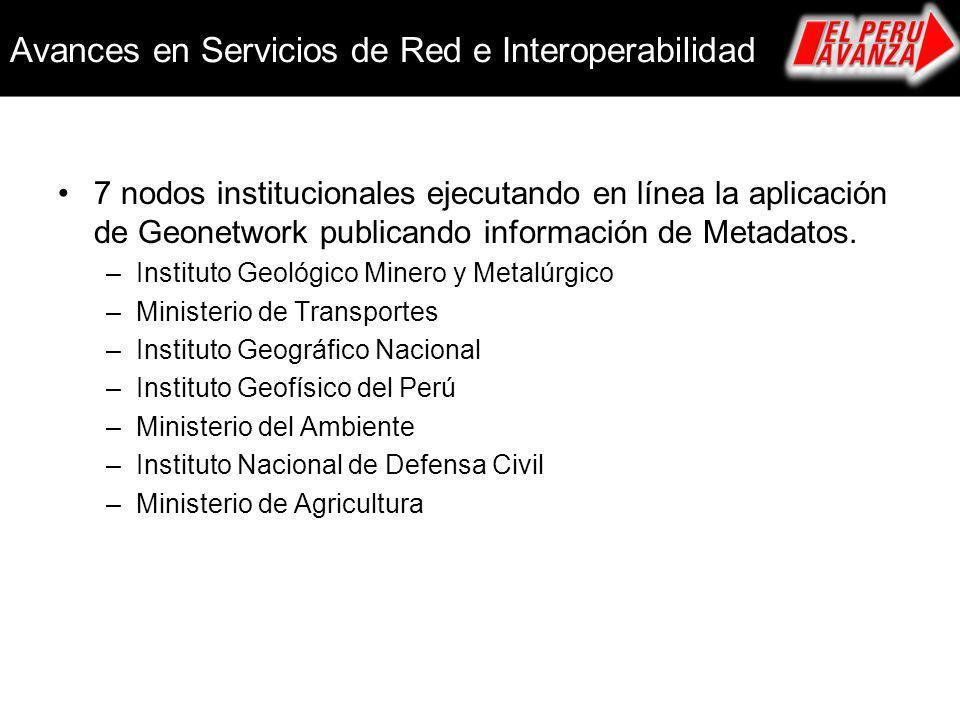 Avances en Servicios de Red e Interoperabilidad