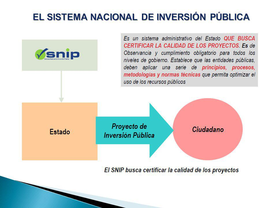 EL SISTEMA NACIONAL DE INVERSIÓN PÚBLICA