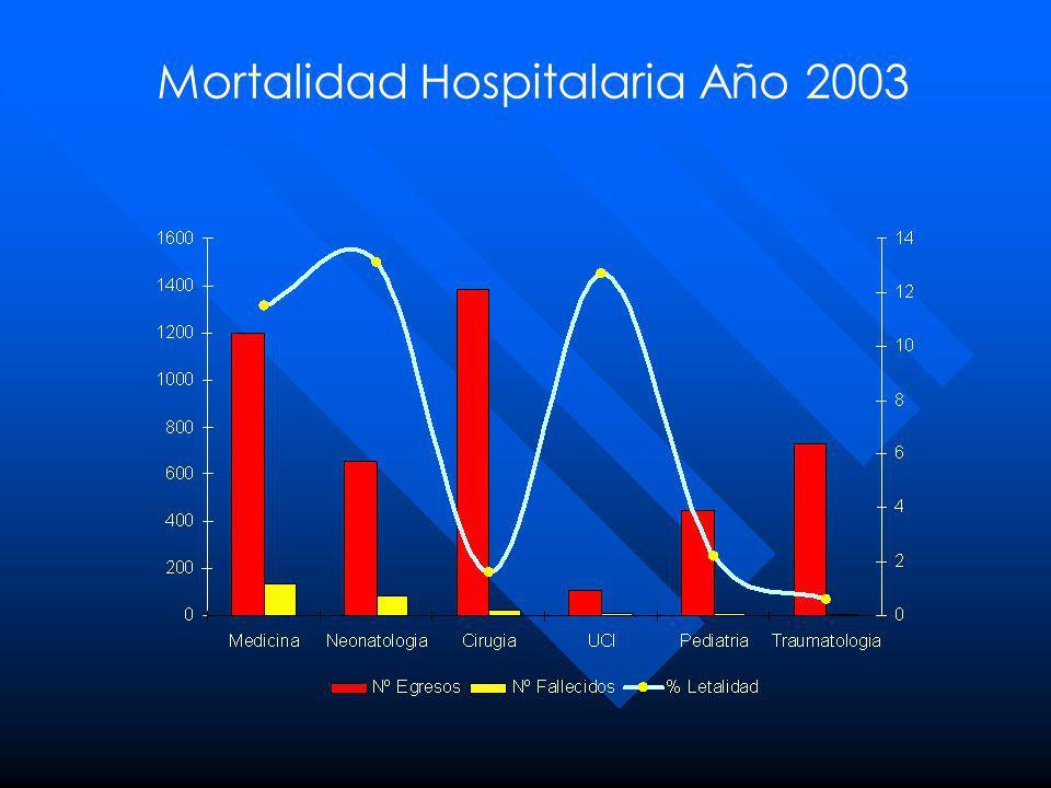 Mortalidad Hospitalaria Año 2003