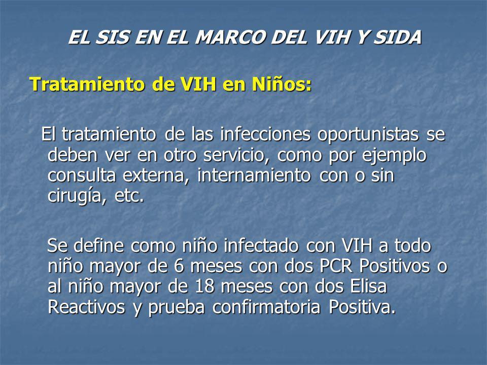 EL SIS EN EL MARCO DEL VIH Y SIDA