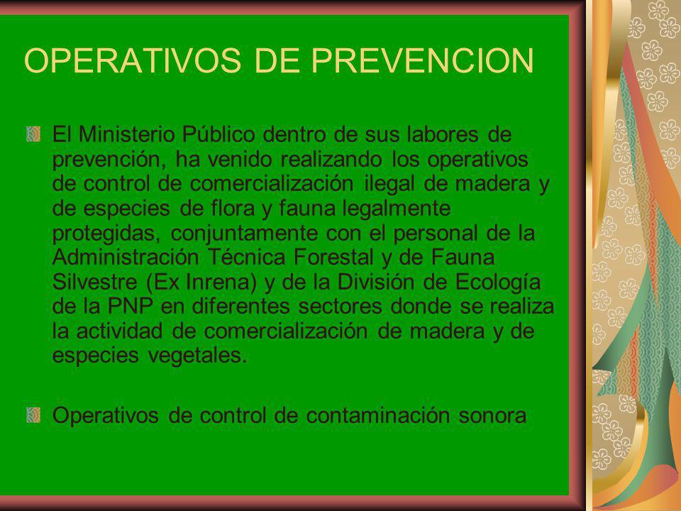 OPERATIVOS DE PREVENCION