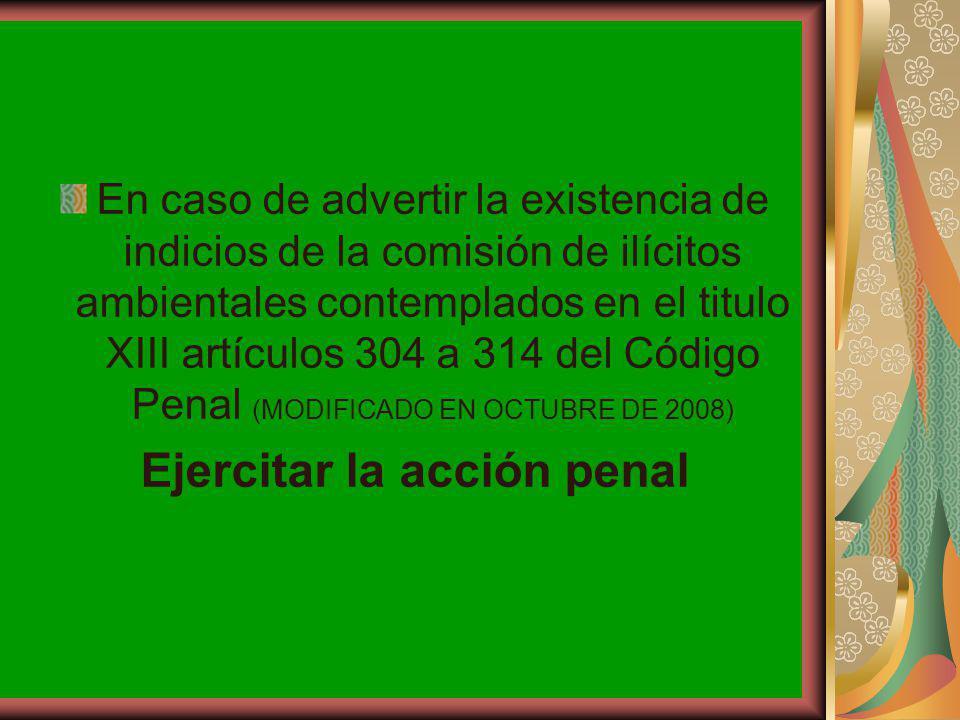 Ejercitar la acción penal