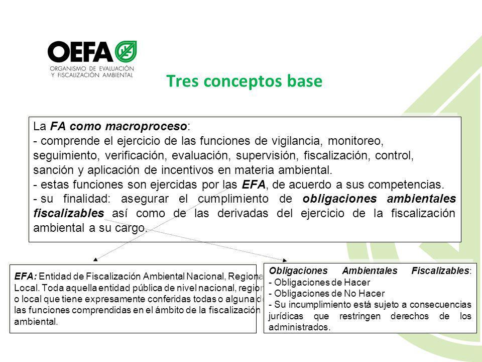 Tres conceptos base La FA como macroproceso: