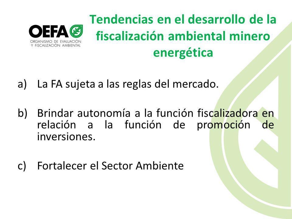 Tendencias en el desarrollo de la fiscalización ambiental minero energética