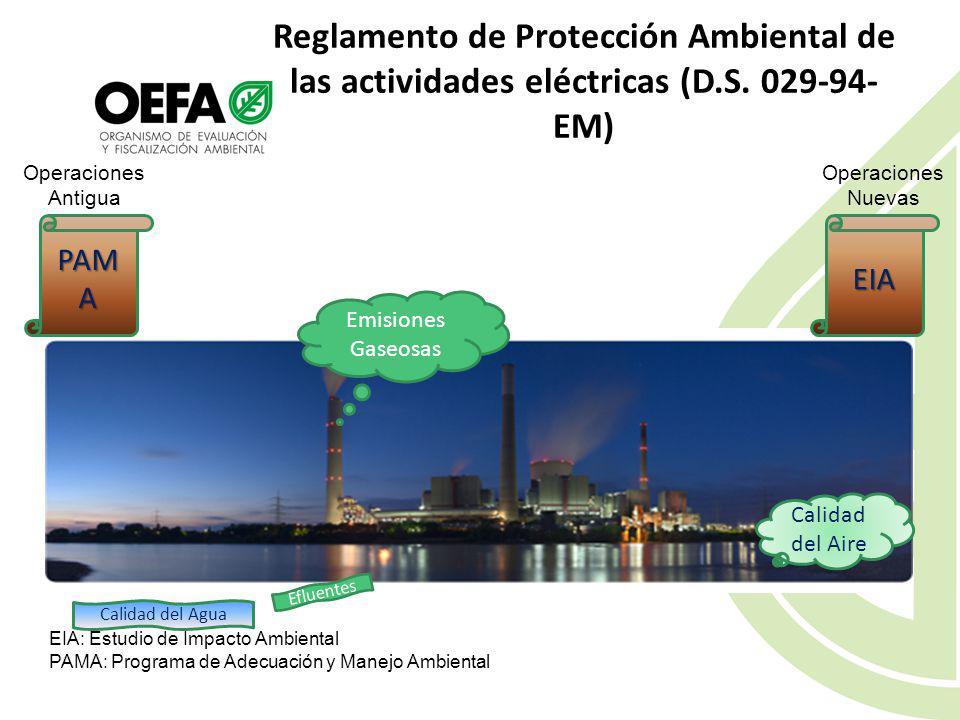 Reglamento de Protección Ambiental de las actividades eléctricas (D. S