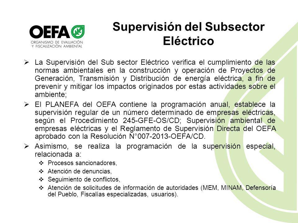 Supervisión del Subsector Eléctrico