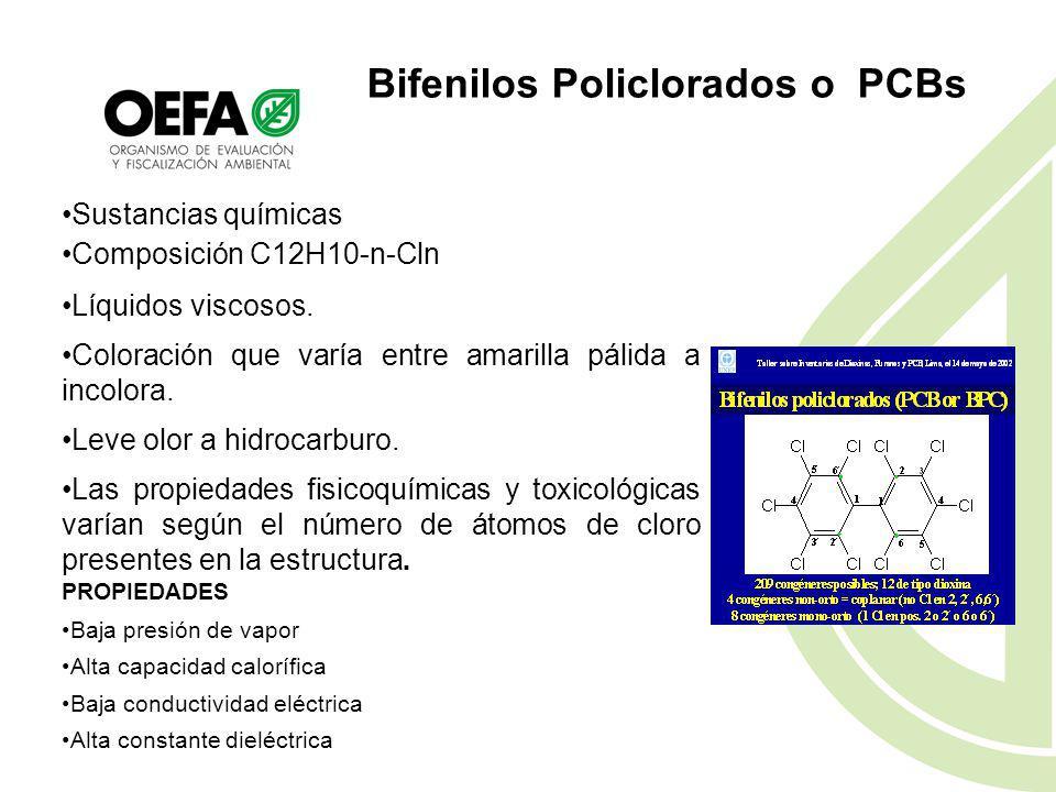 Bifenilos Policlorados o PCBs