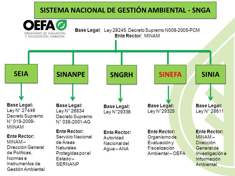 SISTEMA NACIONAL DE GESTIÓN AMBIENTAL - SNGA