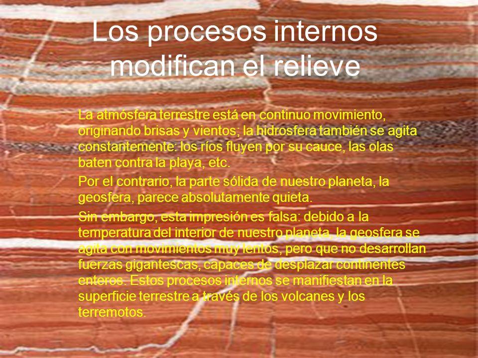 Los procesos internos modifican el relieve