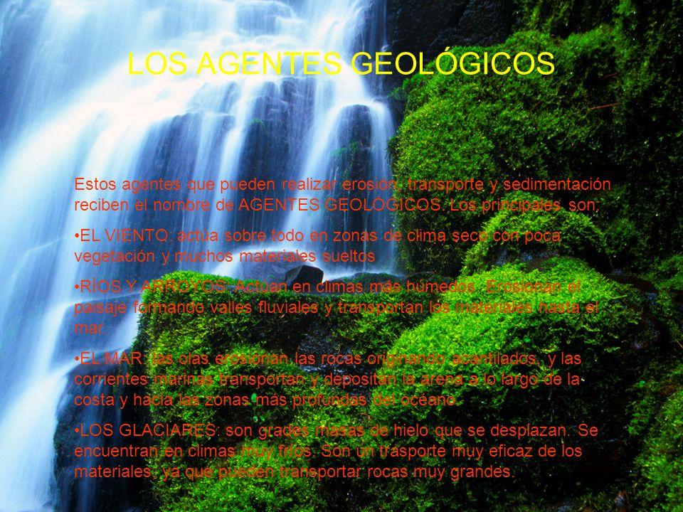 LOS AGENTES GEOLÓGICOS