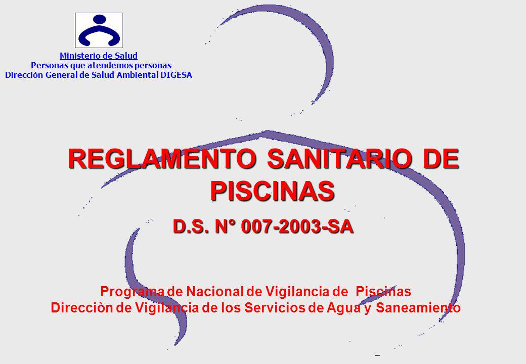 REGLAMENTO SANITARIO DE PISCINAS