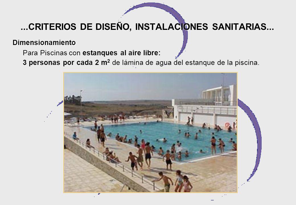...CRITERIOS DE DISEÑO, INSTALACIONES SANITARIAS...