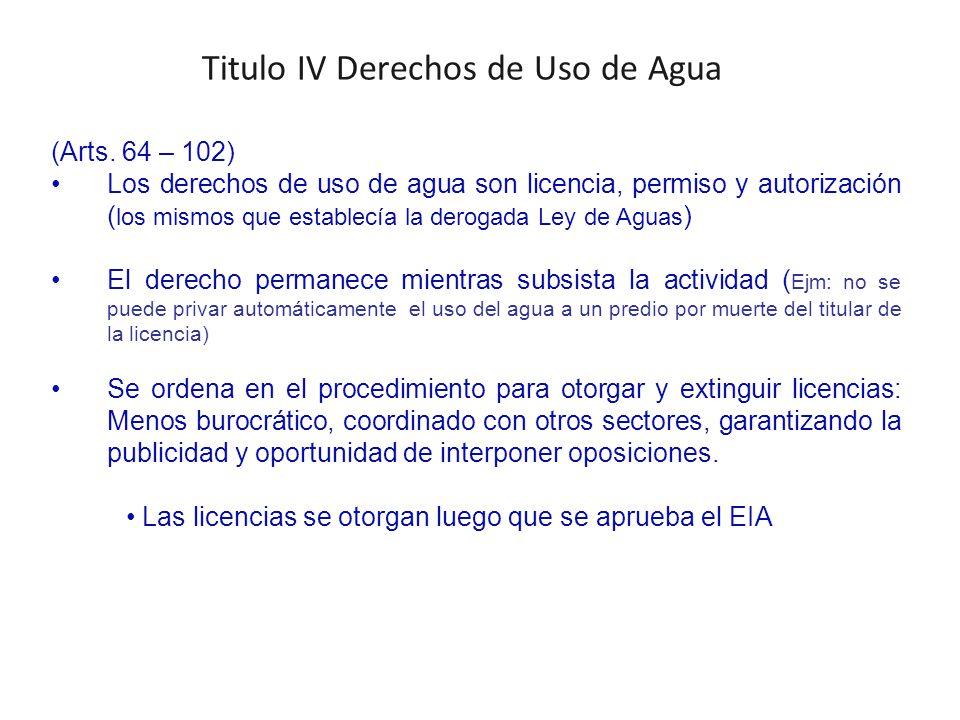 Titulo IV Derechos de Uso de Agua