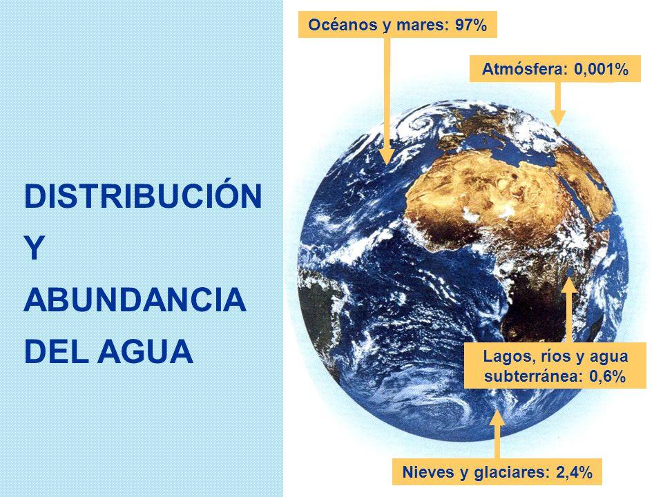 Lagos, ríos y agua subterránea: 0,6%