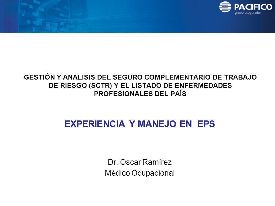 EXPERIENCIA Y MANEJO EN EPS Dr. Oscar Ramírez Médico Ocupacional