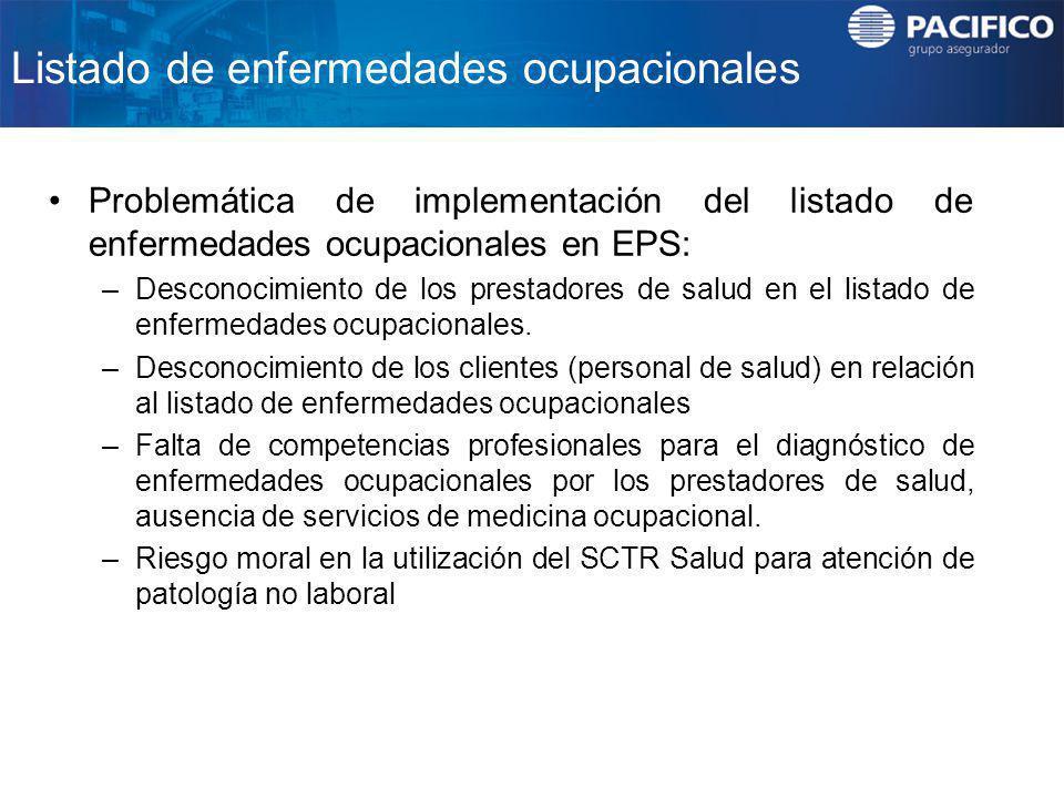 Listado de enfermedades ocupacionales