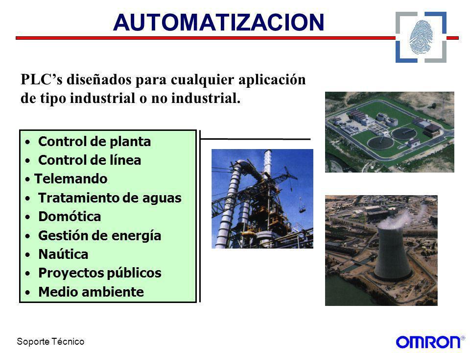 AUTOMATIZACION PLC's diseñados para cualquier aplicación de tipo industrial o no industrial. Control de planta.