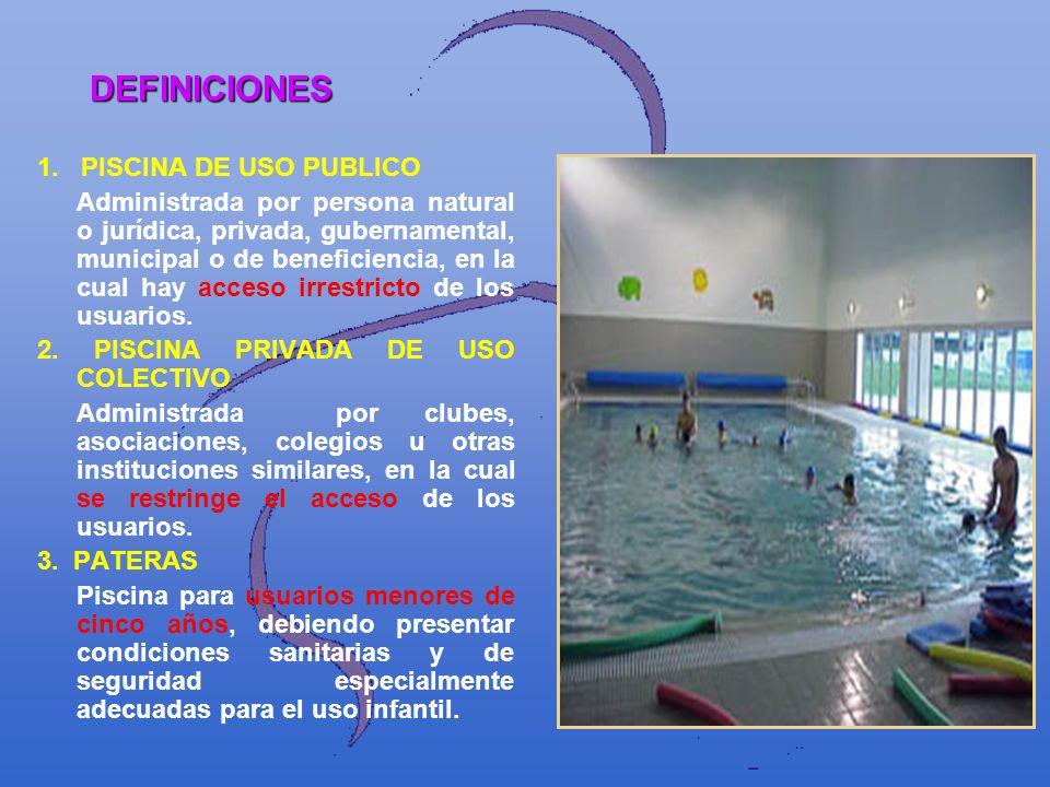 DEFINICIONES 1. PISCINA DE USO PUBLICO