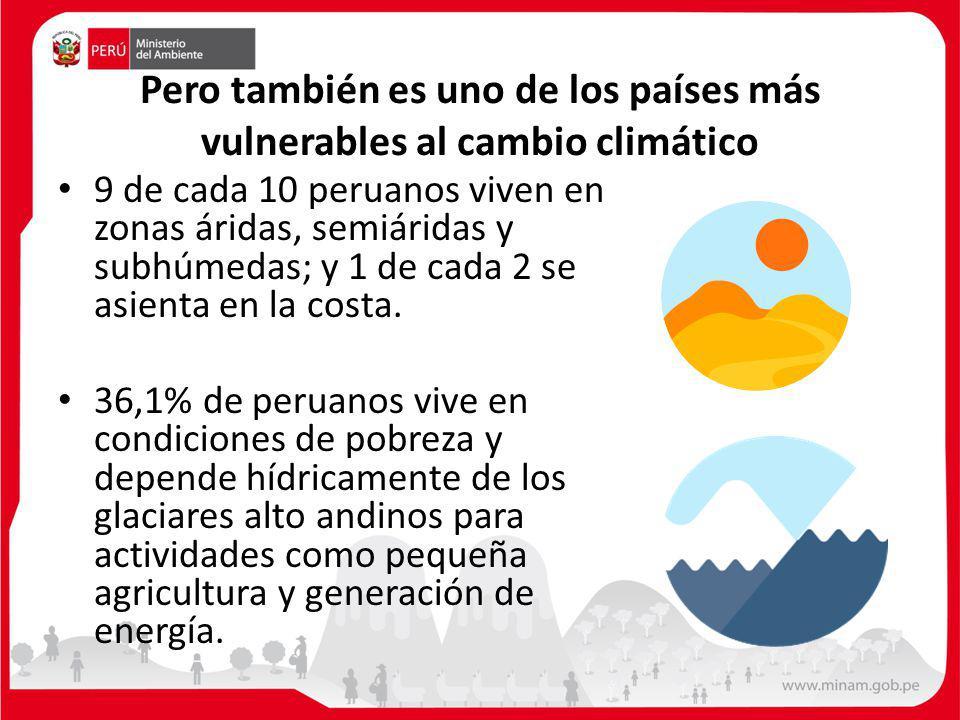 Pero también es uno de los países más vulnerables al cambio climático