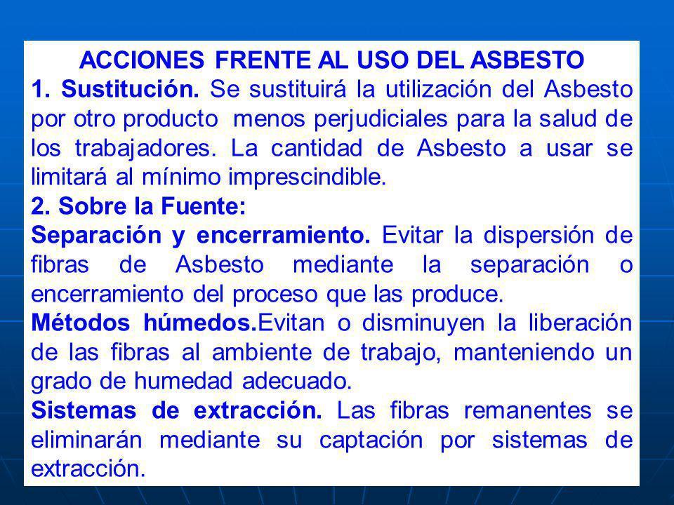 ACCIONES FRENTE AL USO DEL ASBESTO